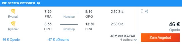 Frankfurt nach Porto