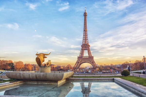 Frankreich Paris Eiffeltum Wasser