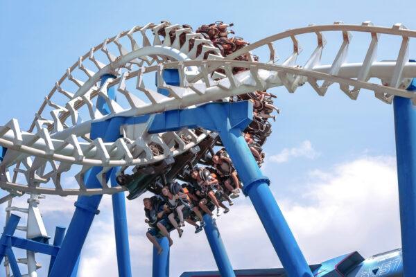 Gardaland Park Blue Tornado