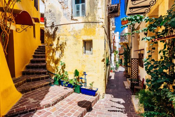 Griechenland Kreta Chania Strasse