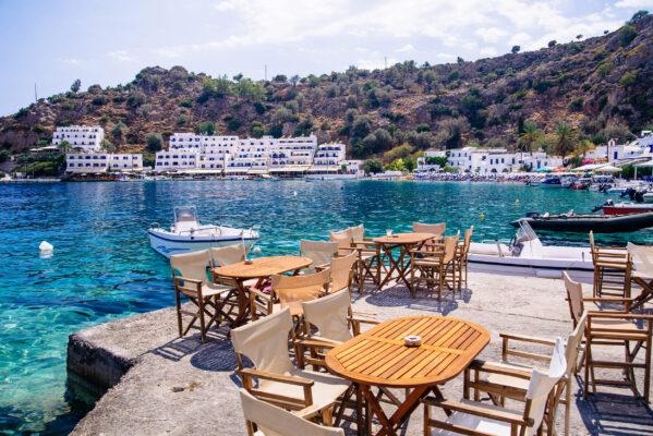 Griechenland Kreta Loutro Ausblick
