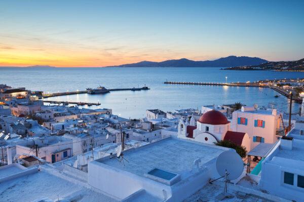 Griechenland Mykonos Abend