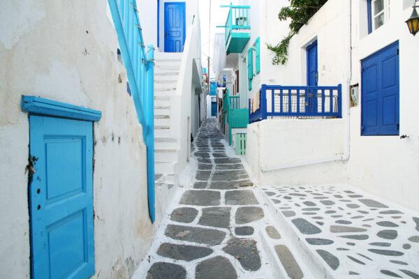 Griechenland Mykonos Altstadt