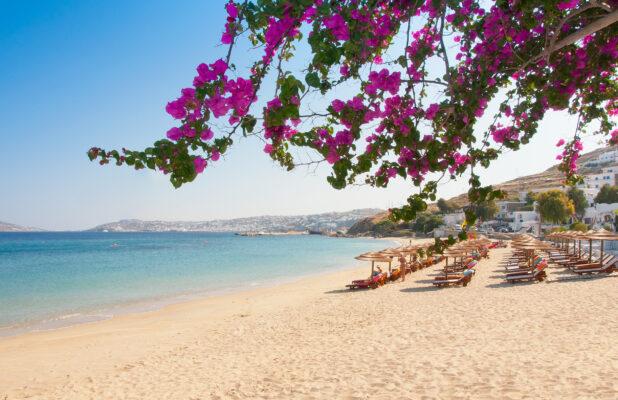 Griechenland Mykonos Strand