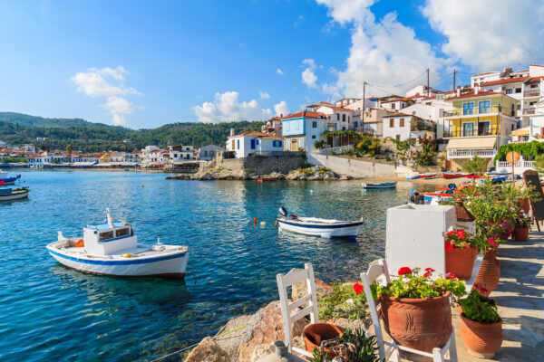 Griechenland Rhodos Boote