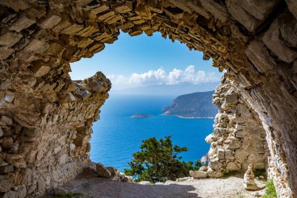 Griechenland Rhodos Ruine