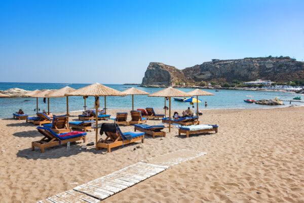 Griechenland Rhodos Stegna Beach