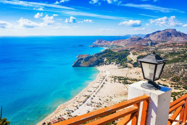 Griechenland Rhodos Trambika Beach