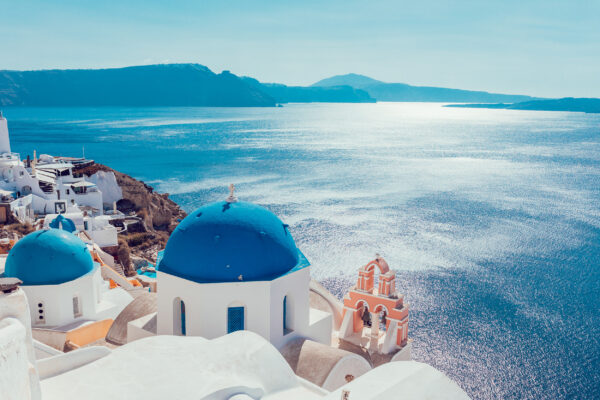 Griechenland Santorini Meerblick
