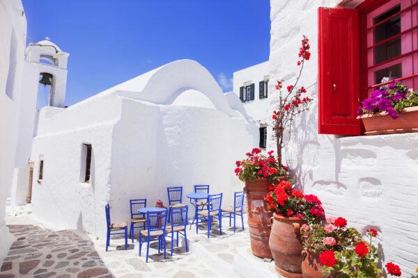 Griechenland Santorini Strasse