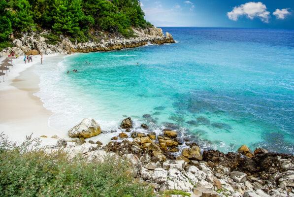 Griechenland Thassos Saliara Beach
