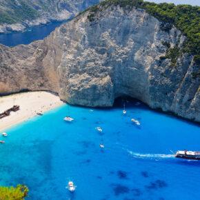 Griechenland Zakynthos Boote