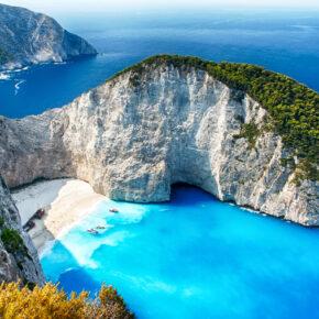 Griechenland: 8 Tage auf Zakynthos mit Unterkunft am Strand & Flug nur 176€