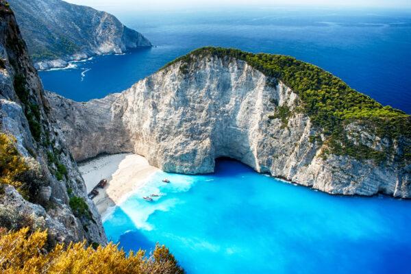 Griechenland Zakynthos Felsen