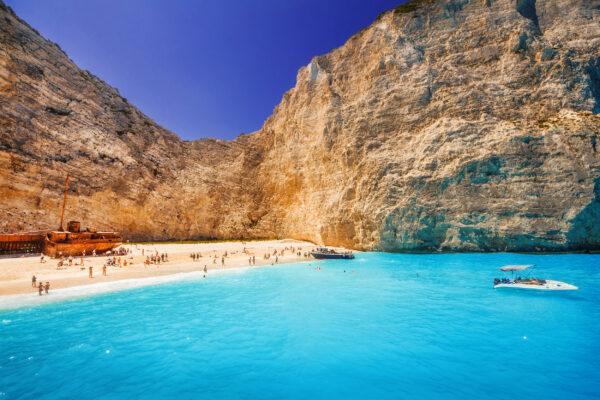 Griechenland Zakynthos Navagio Strand