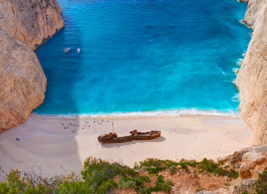 Griechenland Zakynthos Schiffswrack
