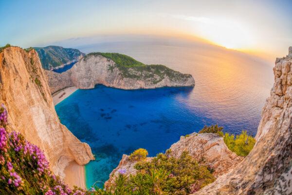 Griechenland Zakynthos Sonnenuntergang