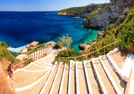Griechenland Zakynthos Treppen