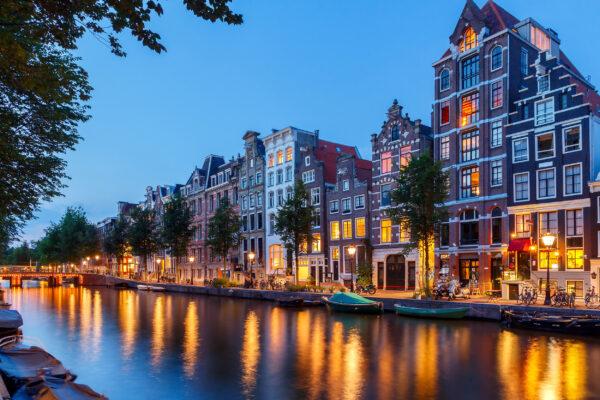 Holland Amsterdam Abend
