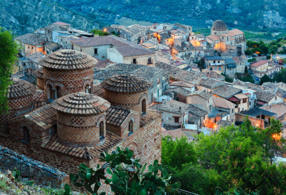 Italien Kalabrien Häuser
