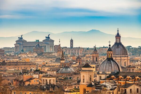 Italien Rom Dächer