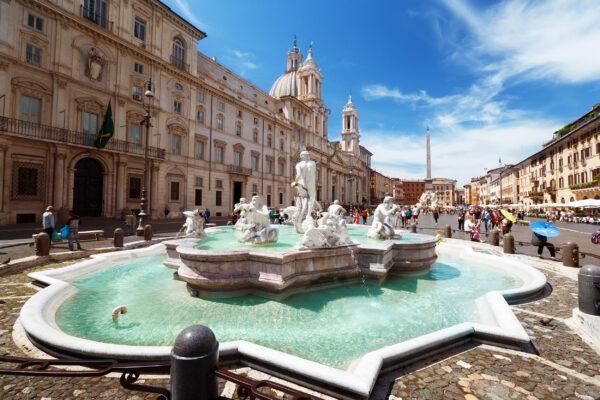 Italien Rom Trevi Brunnen