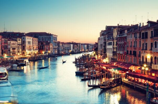 Italien Venedig Abend