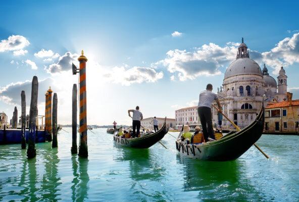 Italien Venedig Grand Canal Gondeln