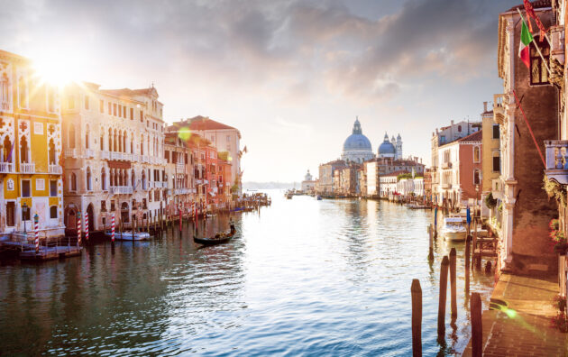 Italien Venedig Grand Canal Sonnenuntergang
