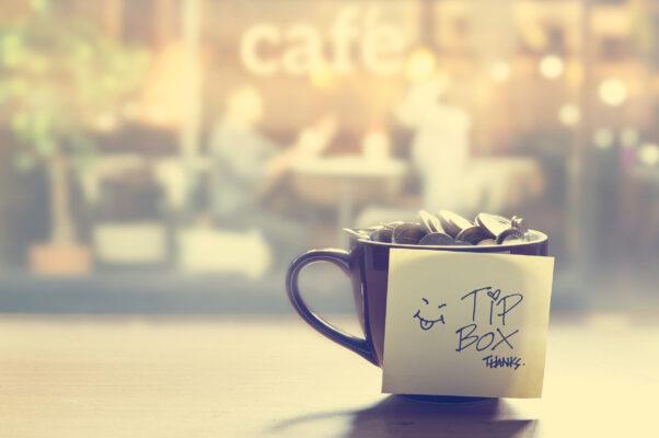 Kaffee Trinkgeld USA