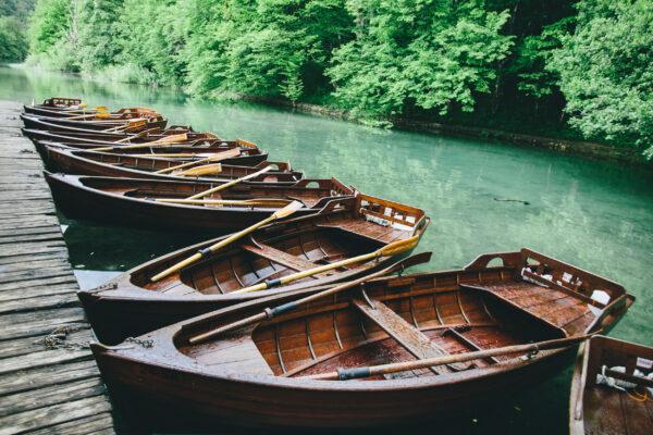 Kroatien Plitvice Boote