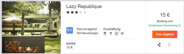 Lazy Republique Deal
