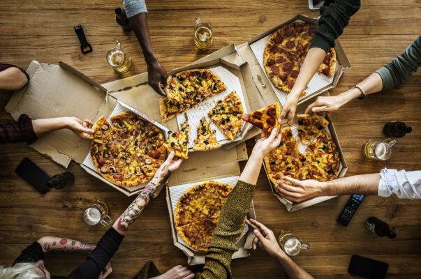 Lieferdienst Pizza
