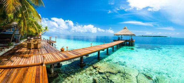 Malediven Wassersteg