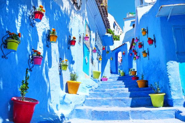 Marokko Chefchauoen Töpfe