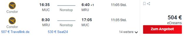 15 Tage Mauritius