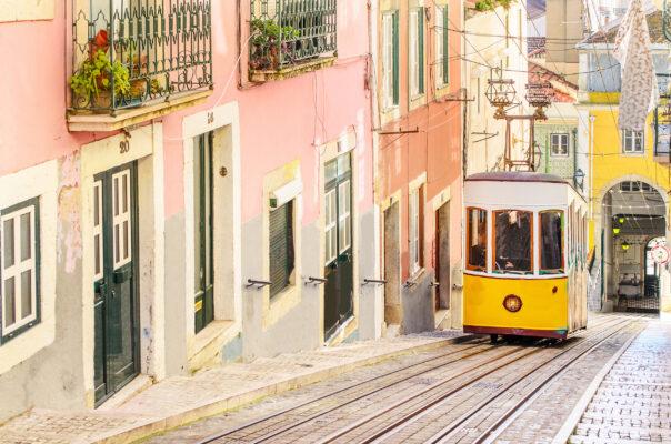 Lissabon Altstadt Bahn