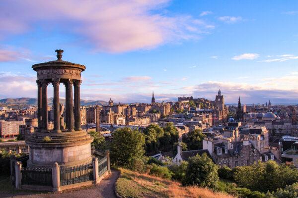 Schottland Edinburgh Skyline