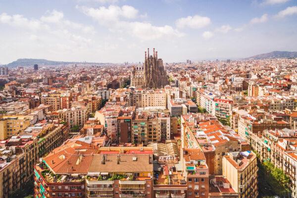 Spanien Barcelona View