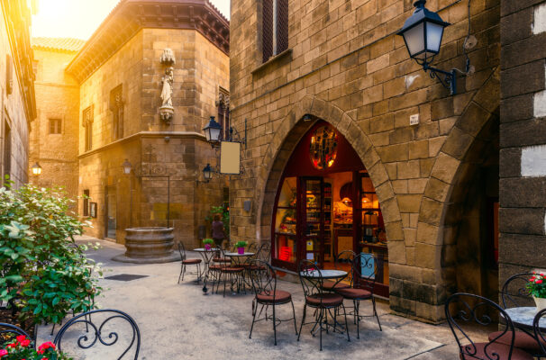 Spanien Barcelona Cafe