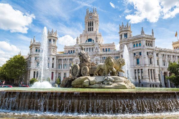 Spanien Madrid Fontäne