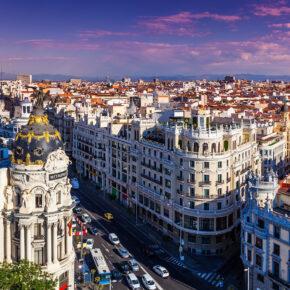 3 Tage Kurztrip nach Madrid mit zentralem TOP 4* Hotel, Frühstück & Flug ab 109€