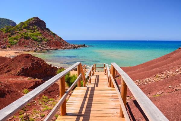 Spanien Menorca Holzweg