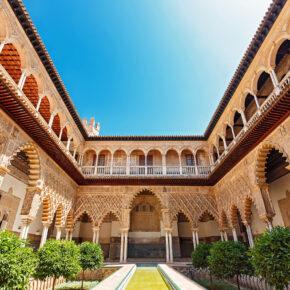 Spanien Sevilla Place of Alcazar