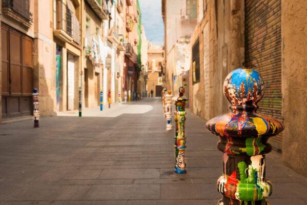Spanien Terragona Strasse
