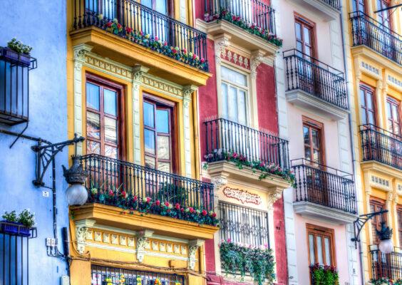 Spanien Valencia Fassaden