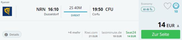 Weeze nach Korfu