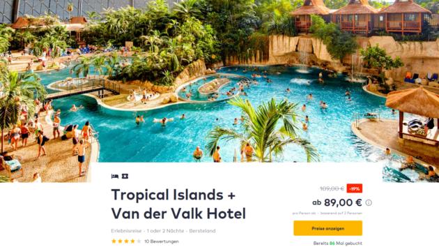 Tropical Island Angebote 3 Tage