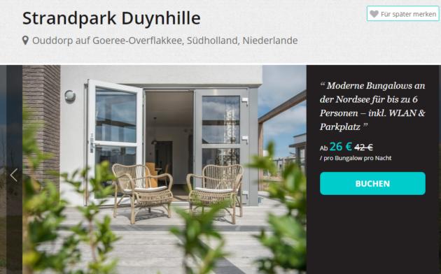 5 Tage Duynhille Strandvilla