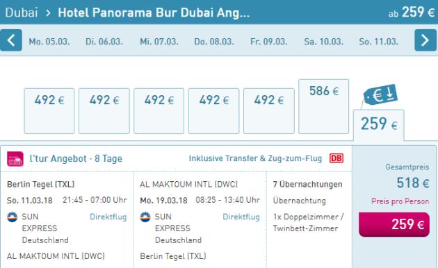 8 Tage Dubai